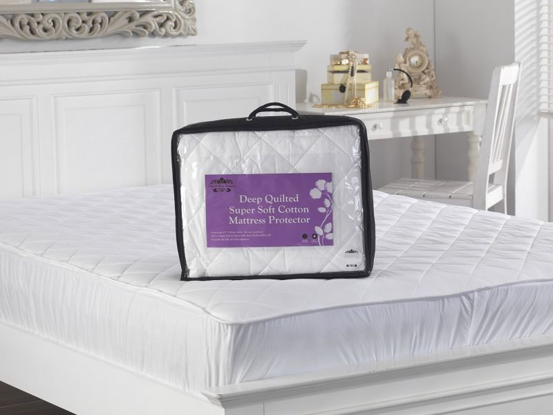 Super Soft 300TC Deep Quilted Cotton Mattress Protector
