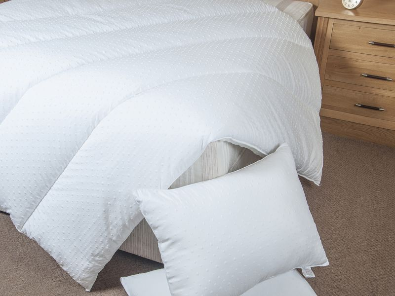 3D Embossed Microfibre Duvets in a choice of 10.5 or 13.5 Tog
