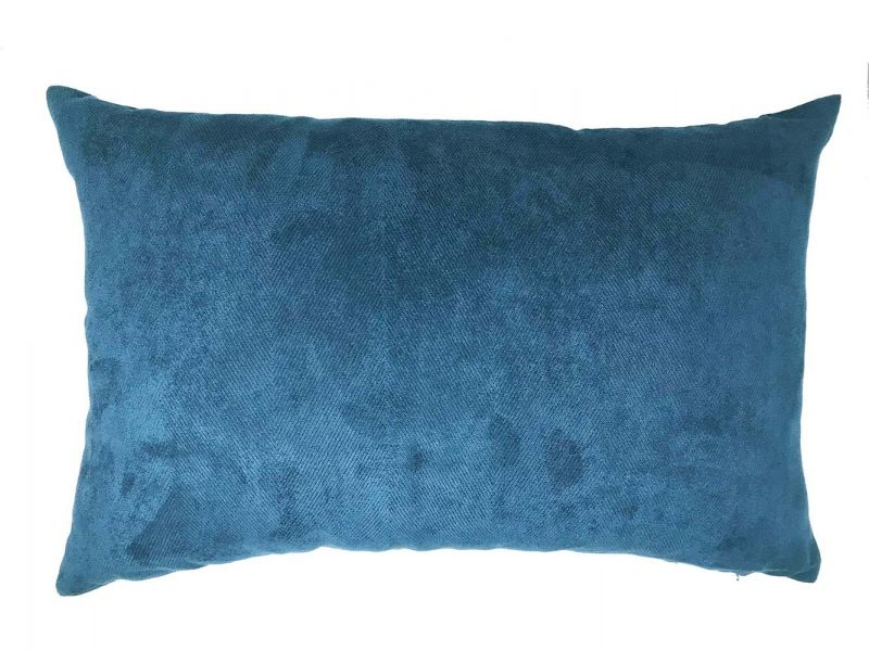 Herringbone Navy Blue Boudoir Cushion Cover | 60cm x 40cm