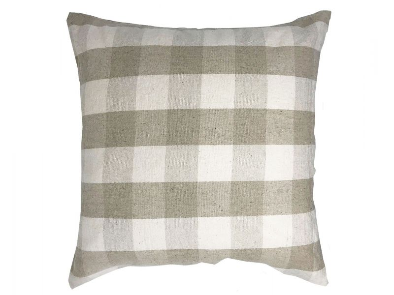 Natural Check Cushion Cover | 45cm x 45cm