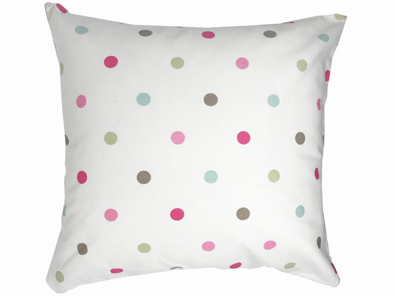 Ella Polka Dot and Stripe Reversible Cushion Cover | 45cm x 45cm