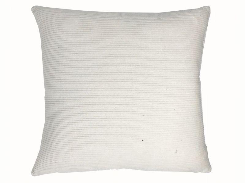 Ivory Corduroy Cushion | 45cm x 45cm