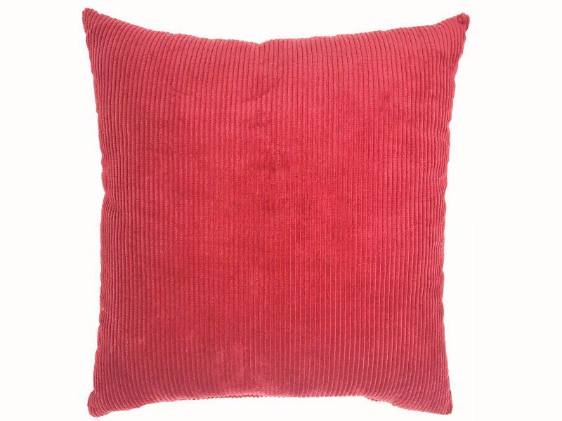 Burgundy Cord Filled Cushion | 43cm x 43cm