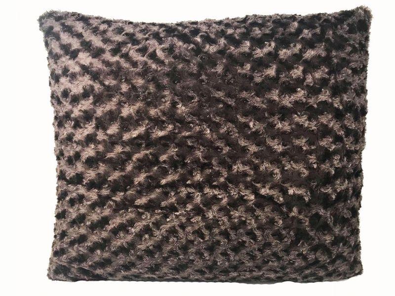 Faux Fur Chocolate Cushion | 60cm x 60cm