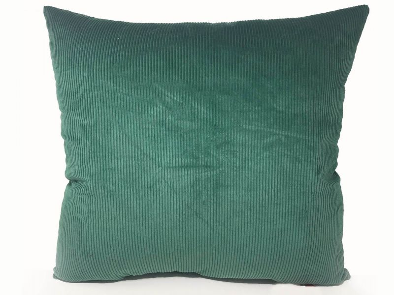 Filled Green Cord Cushion | 60cm x 60cm