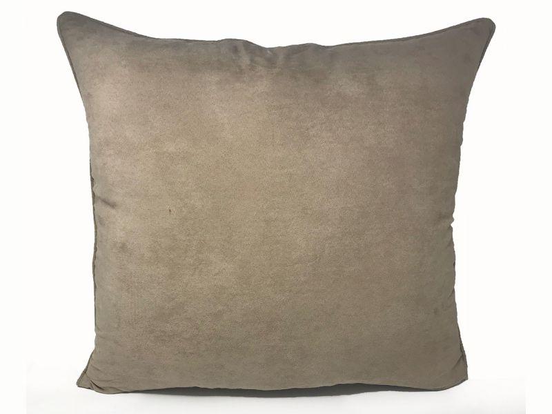Filled Faux Suede Beige Cushion | 55cm x 55cm