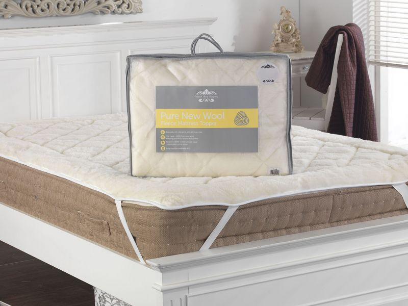 Pure New Wool Reversible Mattress Topper