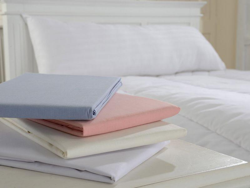 Cotton Blend Bolster Pillowcase