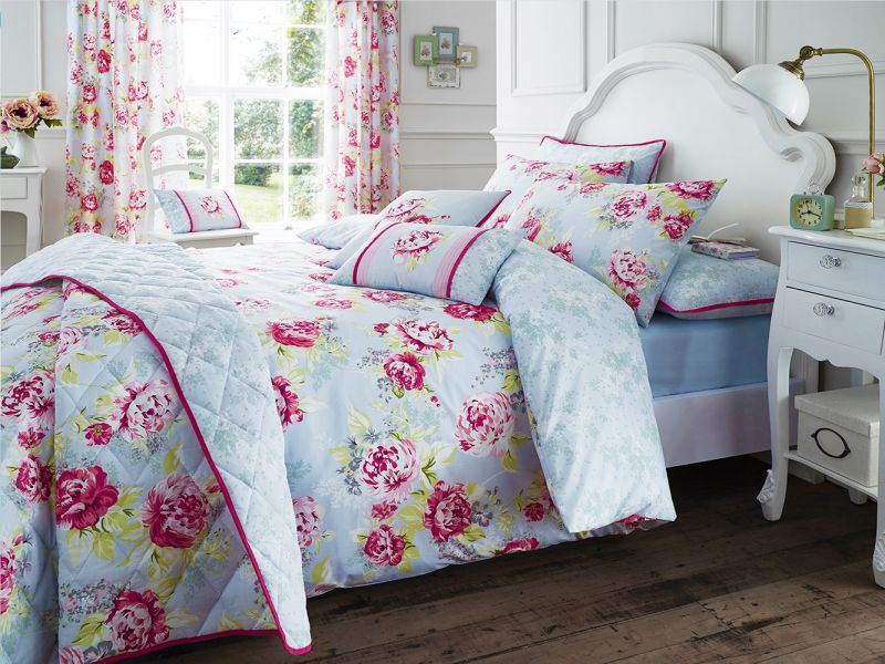Bouquet Bedding Collection in Grey / Pink