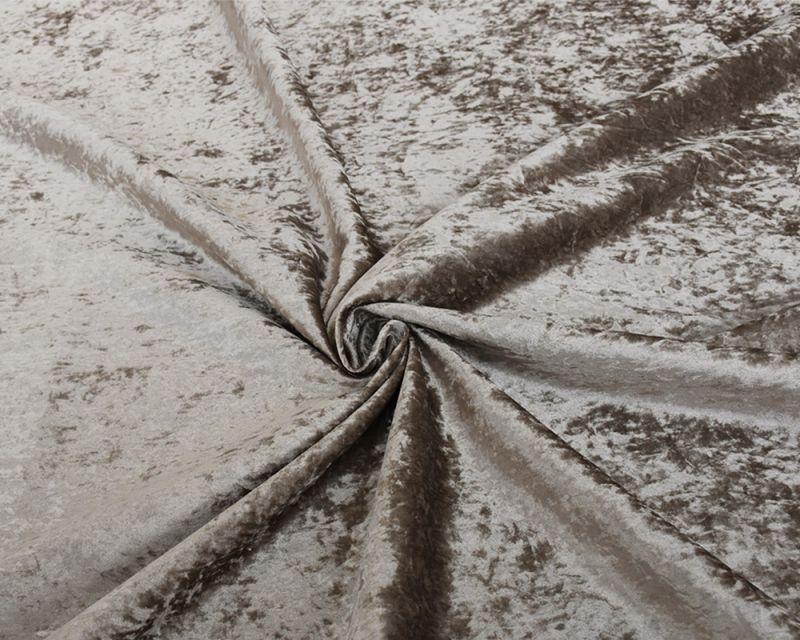 Crushed Velvet Fabric - Champagne