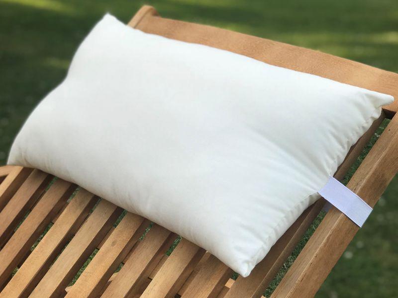 Sun Lounger Head Pillow | 50cm x 25cm - Cream