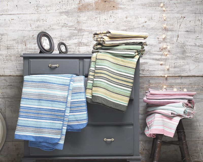 Darcy Cotton Rich Striped Throw / Blanket | 150cm x 200cm