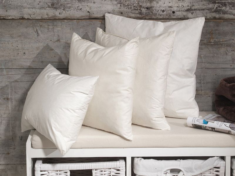 """Duck Feather Cushion Pads with 100% Cotton Casing 