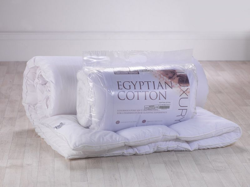 13.5 Tog Simply Cotton White Hollowfibre Filled Duvet