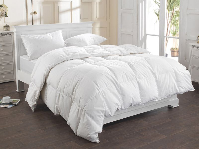 13.5 Tog Pure White, Goose Feather and Down Duvet