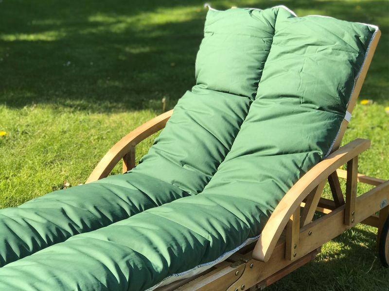 Sun Lounger Topper Cushion Pad | 60cm x 190cm - Green
