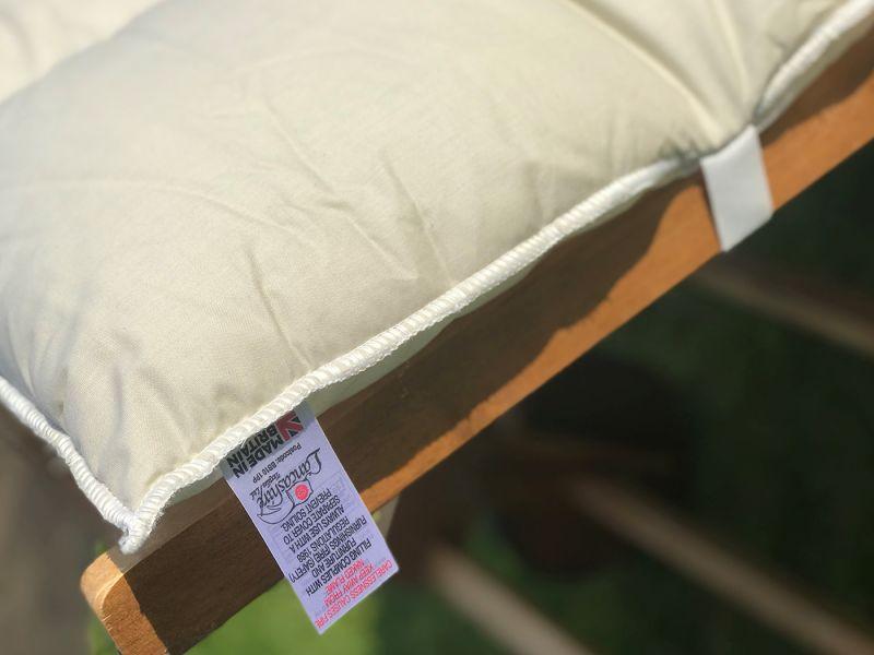Sun Lounger Topper Cushion Pad | 60cm x 190cm - Grey