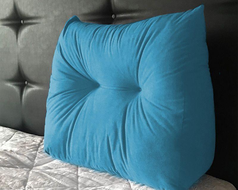 Suede Wedge Headboard Cushion for Armchair