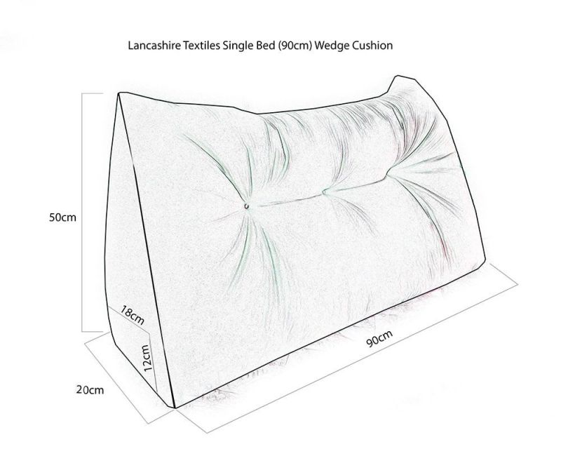 Suede Triangular Wedge Headboard Cushion - Single Bed