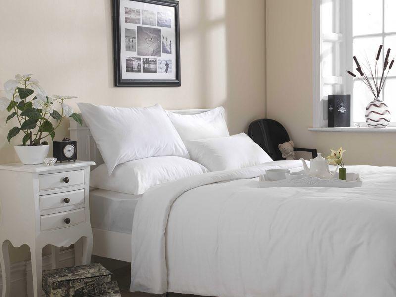 Premium White Linen Range - 200 TC 100% Cotton Housewife Pillowcase Pair