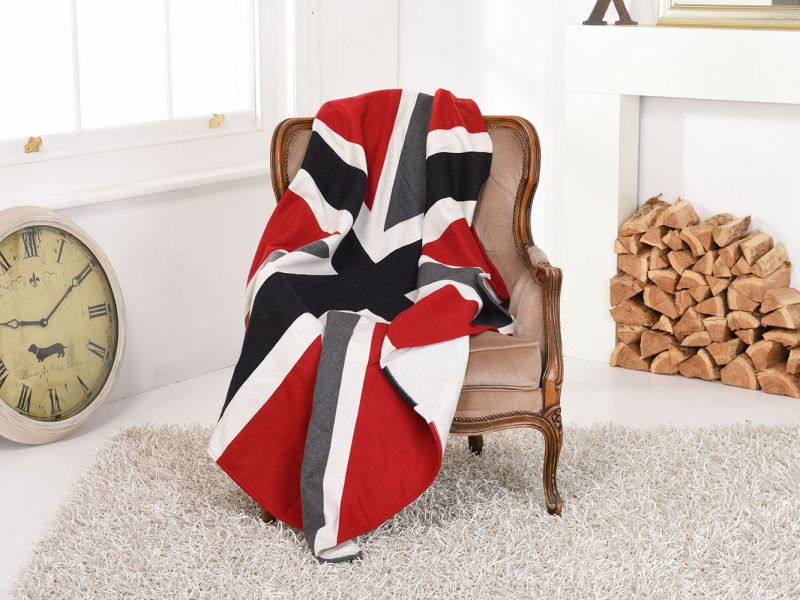 Deluxe Union Jack Heavyweight Wool Throw / Blanket | 150cm x 130cm