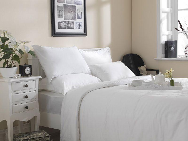 Premium White Linen Range - 20 or 30 Twill 100% Cotton Flat Sheets