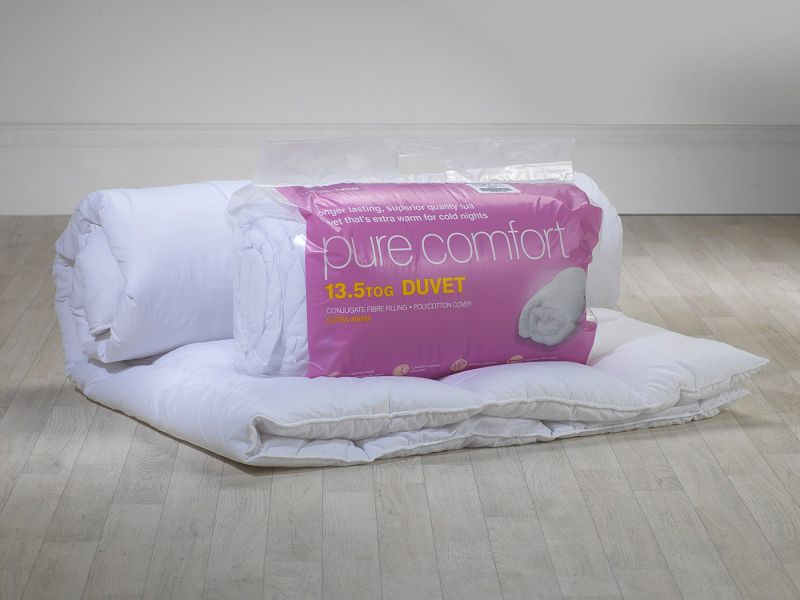 13.5 Tog Pure Comfort Polycotton Hollowfibre Duvet