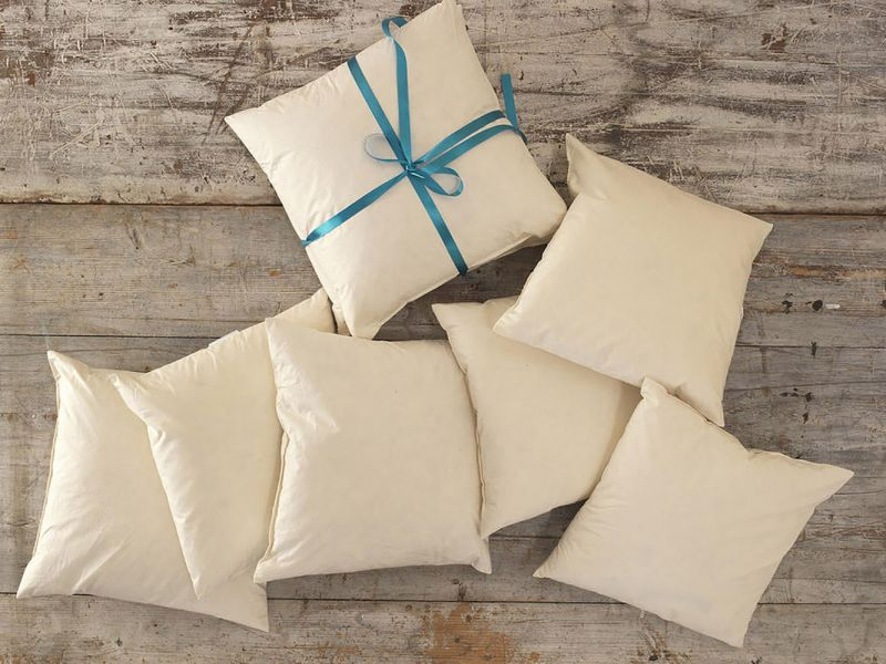 "Duck Feather Cushion Pads with 100% Cotton Casing | 15"" x 15"""