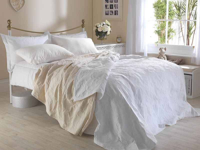 Matelasse Cotton Rich Floral Embossed Florence Bedspreads