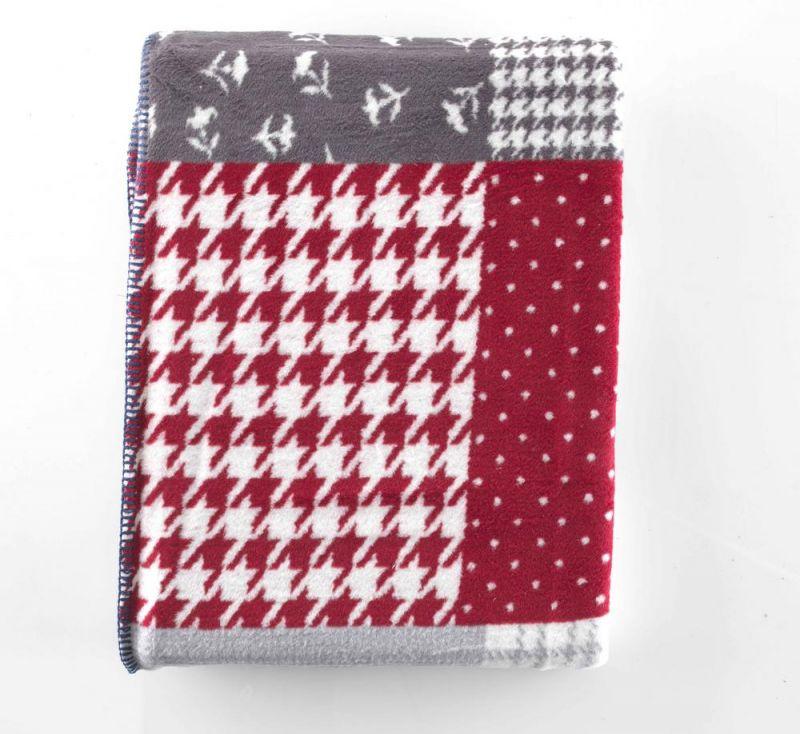 Patchwork Style 100% Cotton Throw / Blanket | 150cm x 200cm