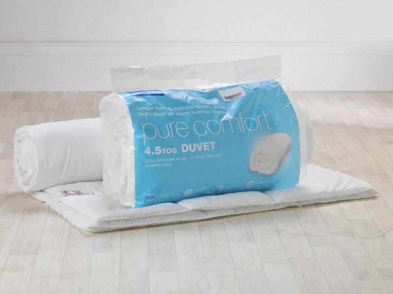 Factory Seconds - 4.5 Tog Pure Comfort Hollowfibre Duvet
