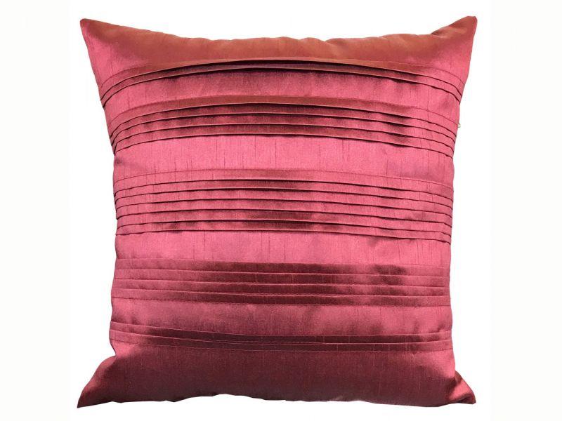 Pleated Pintuck Terracotta Cushion with Inner Pad | 43cm x 43cm