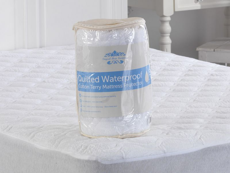 Quilted Waterproof Cotton Terry Mattress Protector