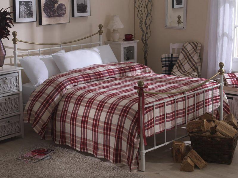 Handwoven Tartan Checked Throw / Bedspread