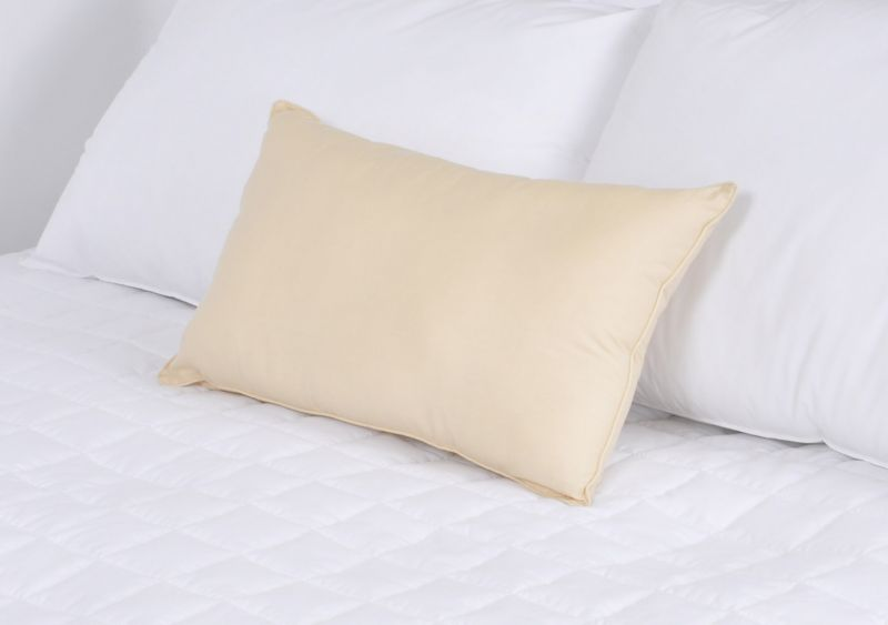 "100% Cotton Pastel Yellow Percale Boudoir Cushion Pad with Piped Edge | 12"" x 20"""