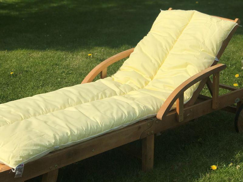 Sun Lounger Topper Cushion Pad | 60cm x 190cm - Yellow